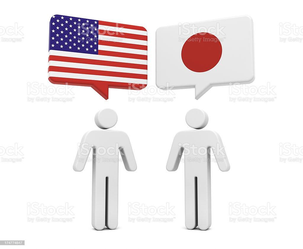 USA Japan Concept royalty-free stock photo