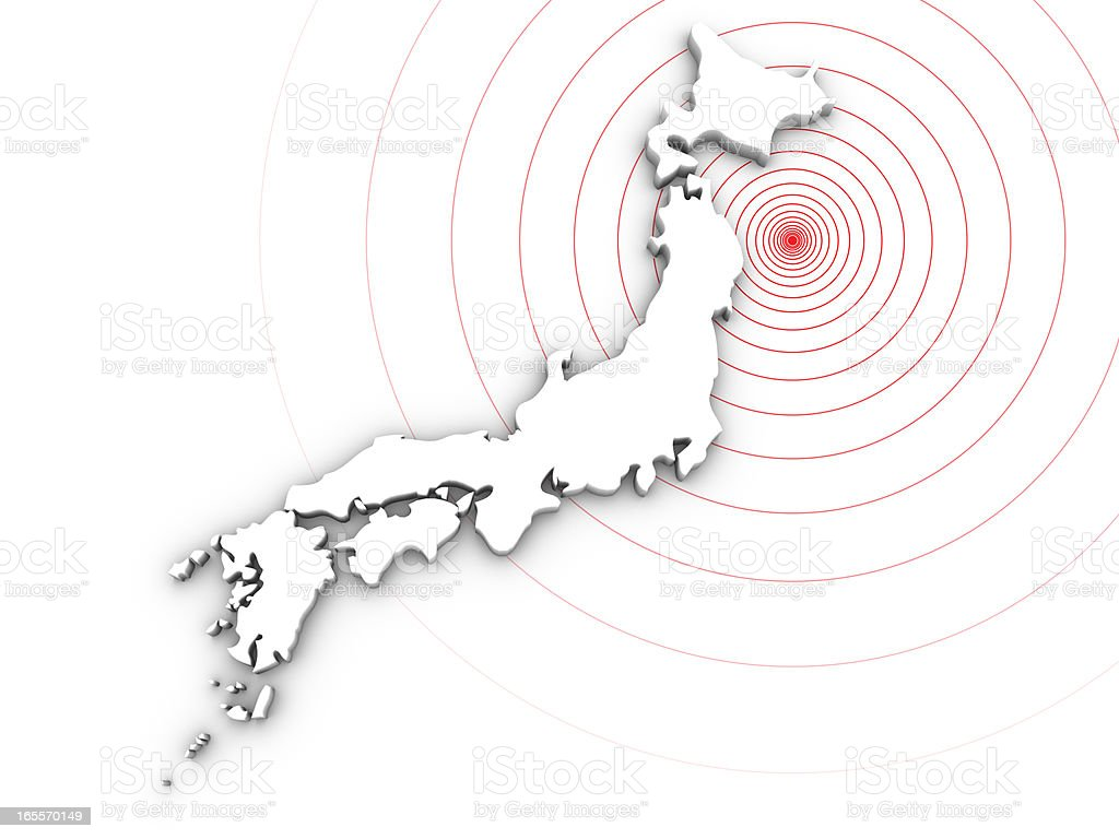 Japan earthquake disaster in 2011 stock photo