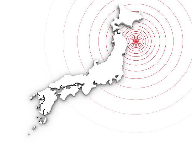 災害、日本の地震 2011 - 日本 地図 ストックフォトと画像