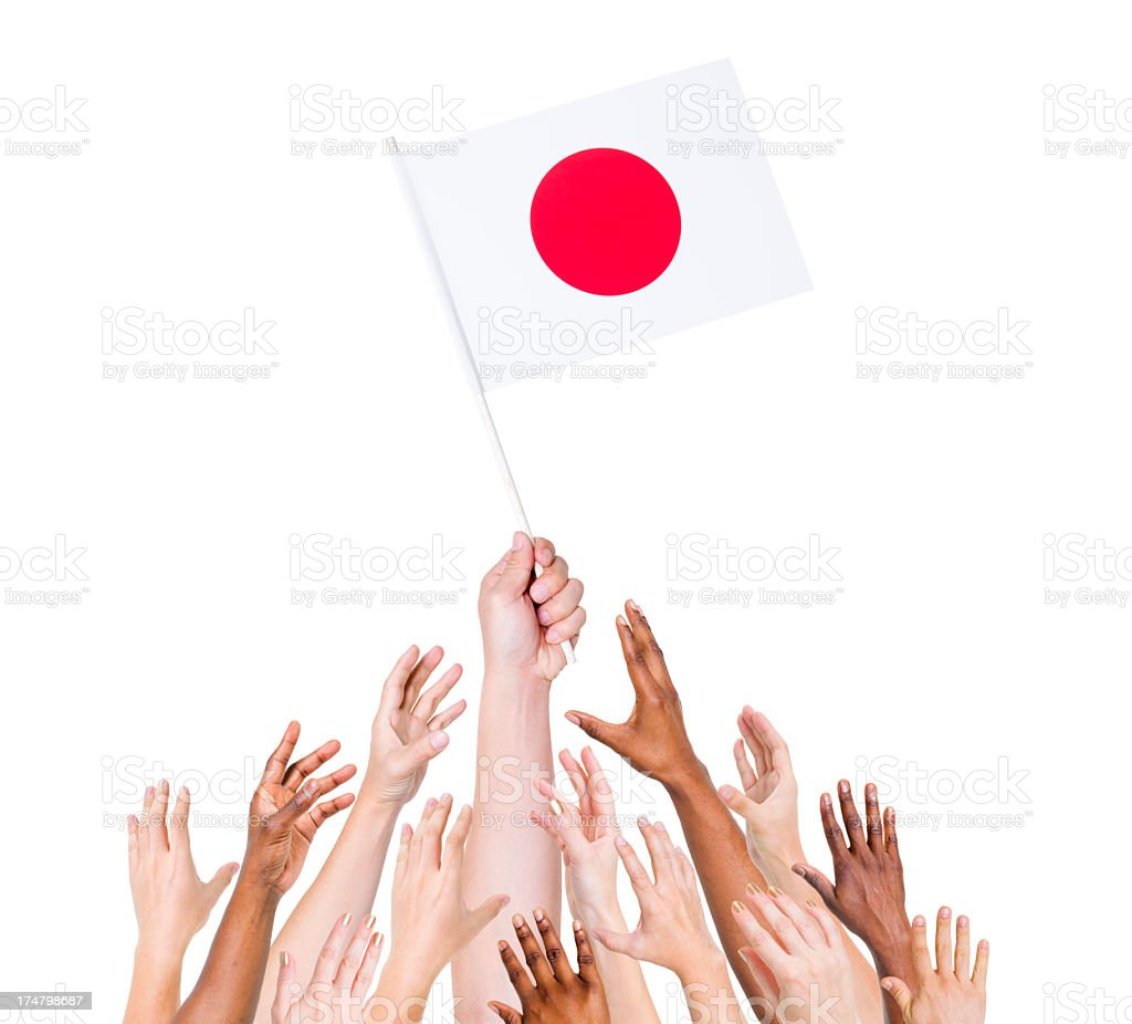 Japan Flag royalty-free stock photo
