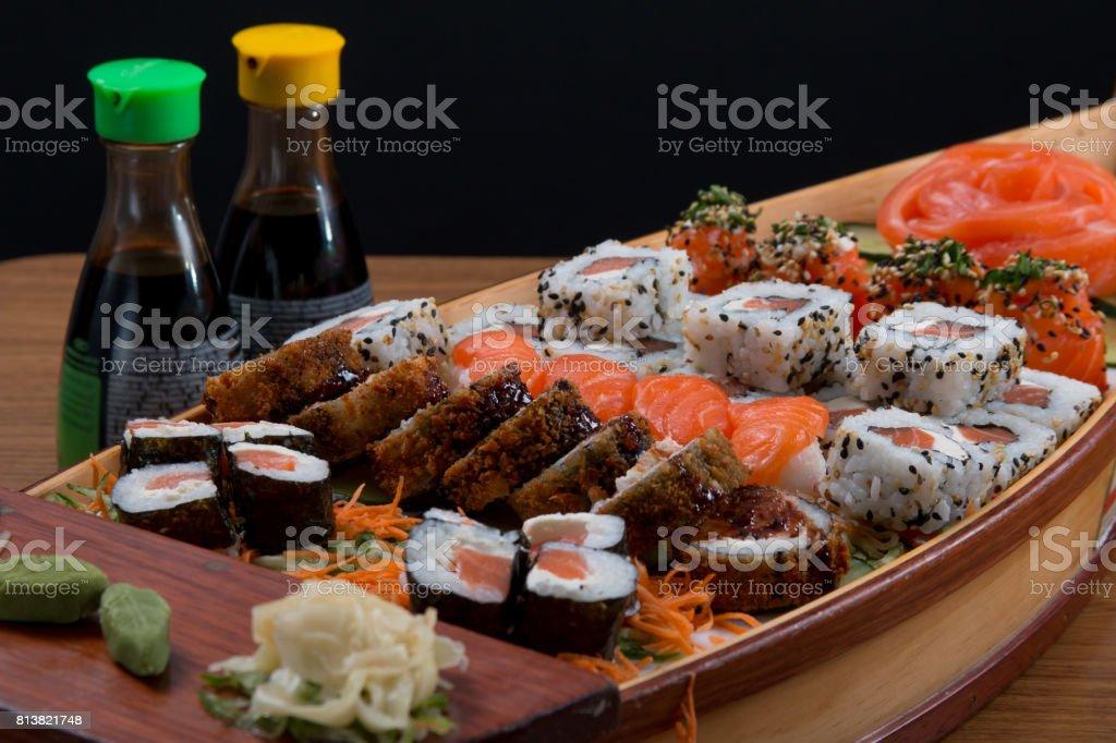 barco de alimentos de Japón - foto de stock