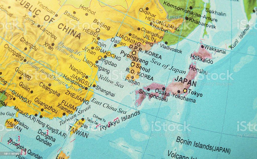 Cina E Giappone Cartina Geografica.Giappone Corea Alla Cina E Vicinities Mare Fotografie