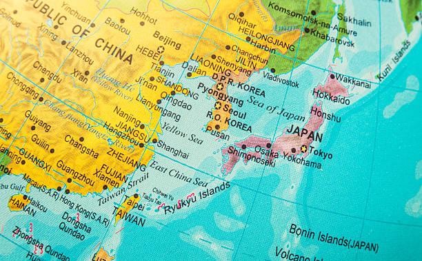 giappone, corea, alla cina e vicinities mare - asia orientale foto e immagini stock