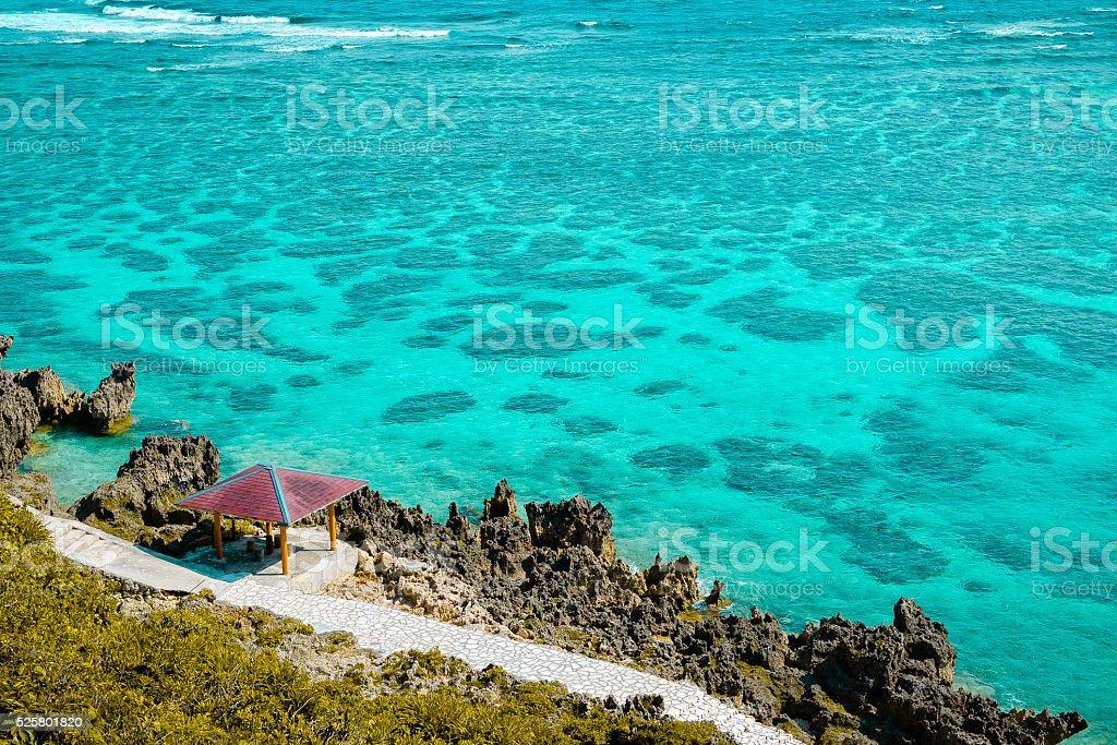 Japan Miyako Island in Okinawa stock photo
