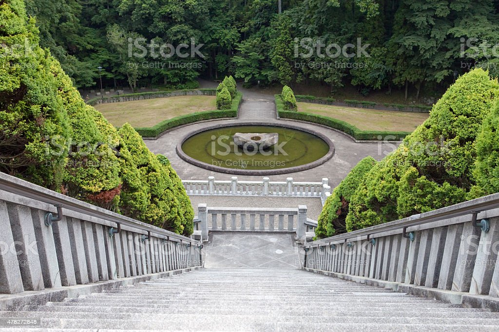 Japan. Narita. A ladder in park. stock photo