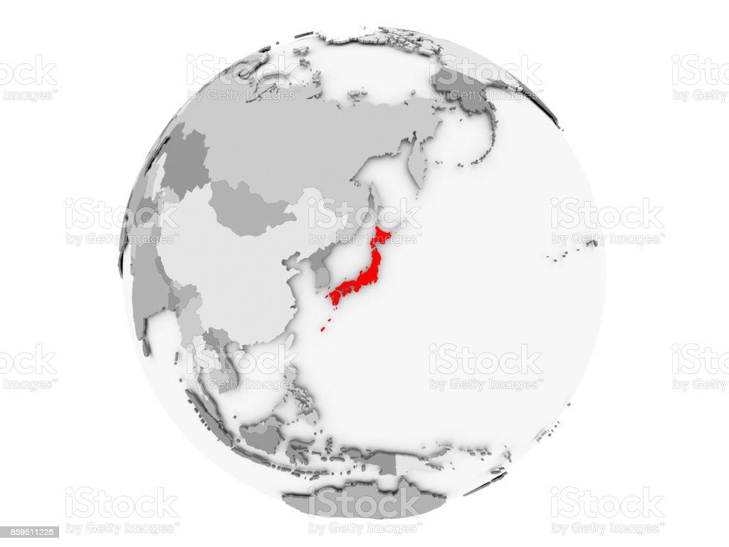 Graue Welt isoliert Japan – Foto