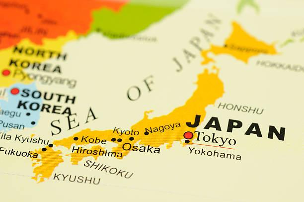 日本のマップ - 日本 地図 ストックフォトと画像