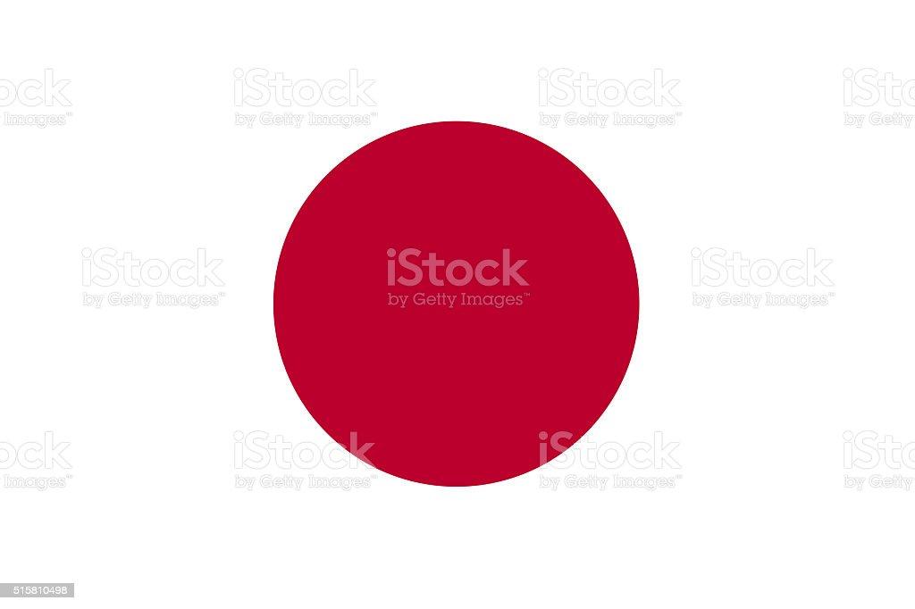 Japão ou bandeira japonesa - foto de acervo