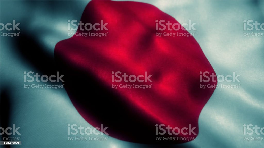 Japan or japanese flag stock photo