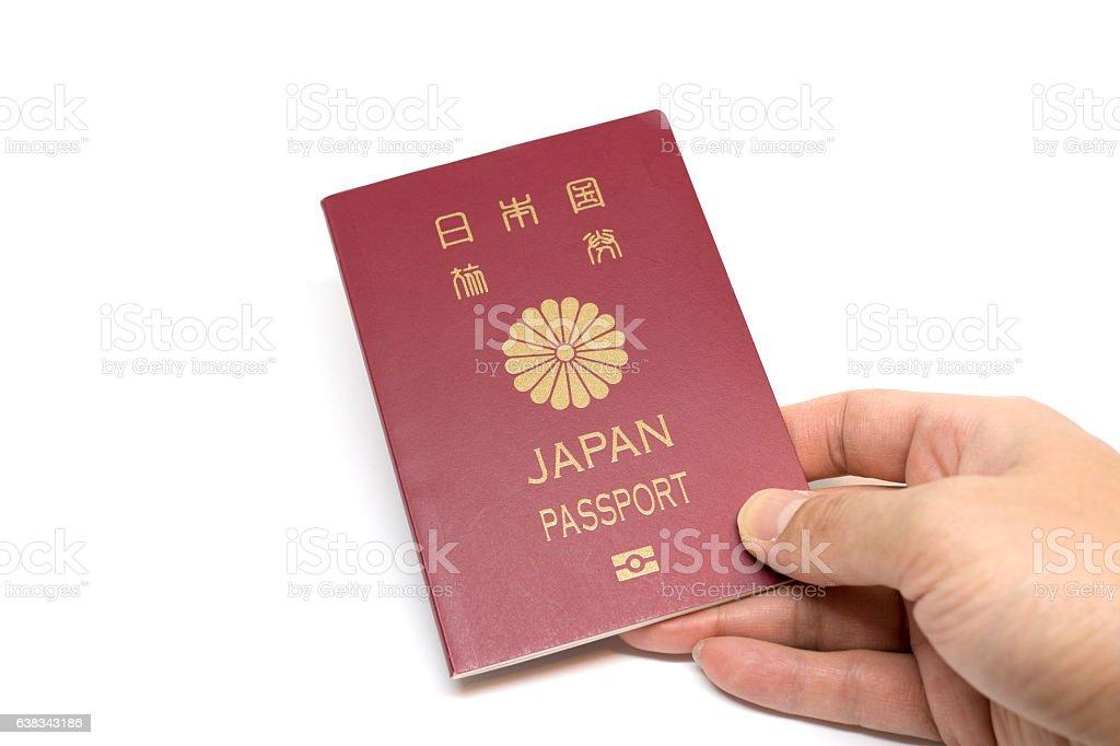 Japan Passport in hand ストックフォト