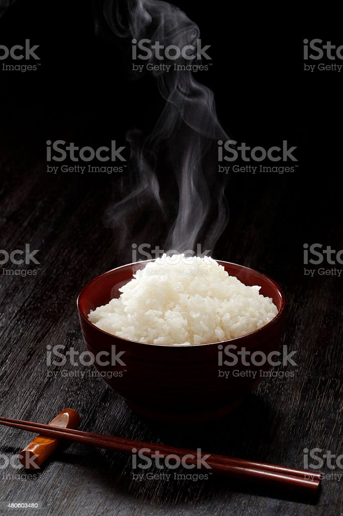 Japan rice stock photo
