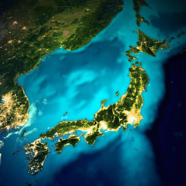 Japan-Weltraumkarte – Foto
