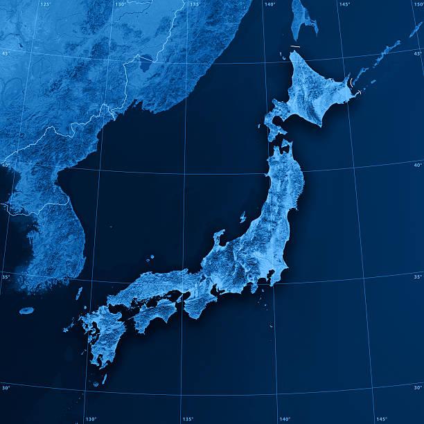 日本 topographic マップ - 日本 地図 ストックフォトと画像