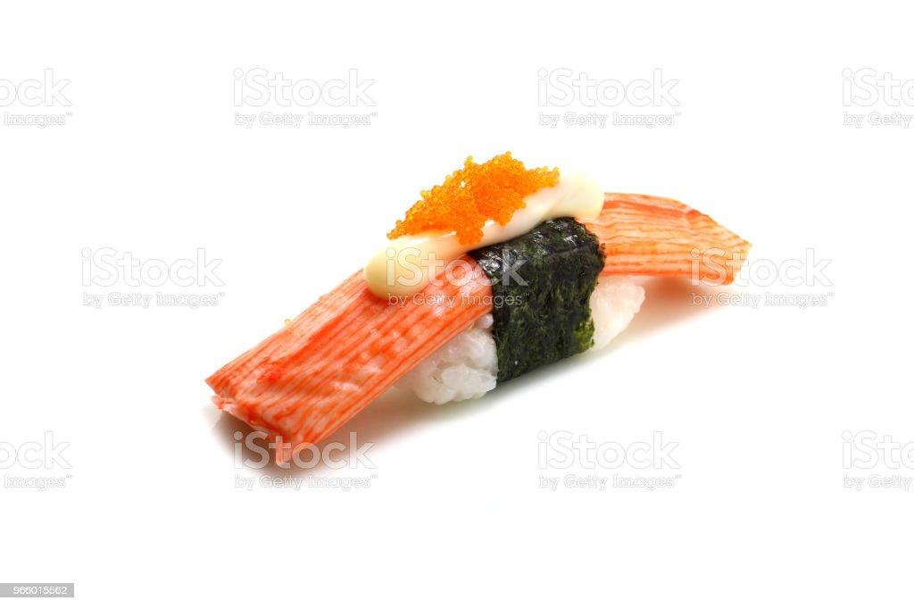 Japan traditionell Sushi auf Isloted weißen Hintergrund - Lizenzfrei Asien Stock-Foto