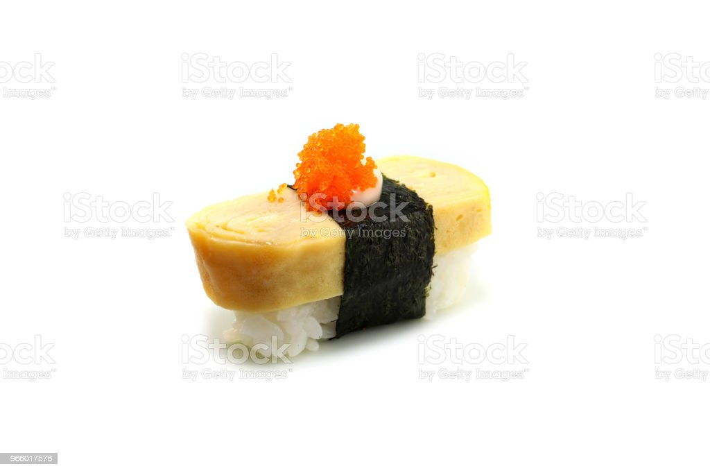 Japan traditionele sushi op isloted witte achtergrond - Royalty-free Avocado Stockfoto