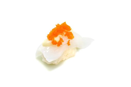 Japan Traditionell Sushi På Isloted Vit Bakgrund-foton och fler bilder på Aperitif - Måltid