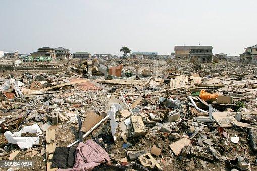 istock Japan Tsunami Earthquake 2011 Ishinomaki city destruction 509847694