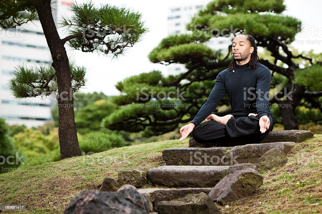 Japan Yoga-Meditation-Pose – Foto