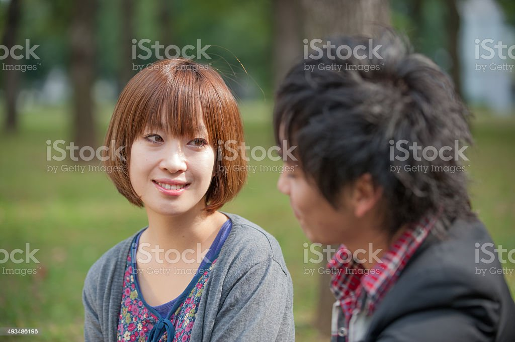 Japaneese couple stock photo