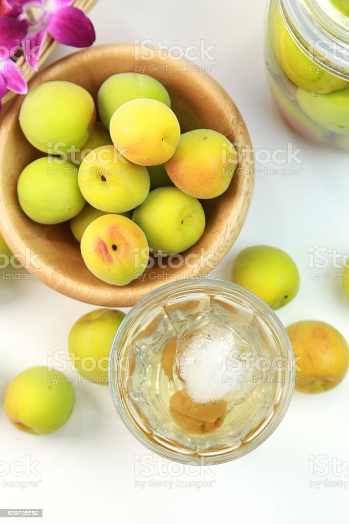 Japanese apricot royalty-free stock photo