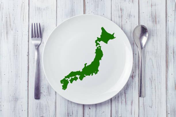 プレート上の日本列島 - 日本 地図 ストックフォトと画像