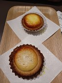 Baked cheese tart typical dessert from Okaido, Japan