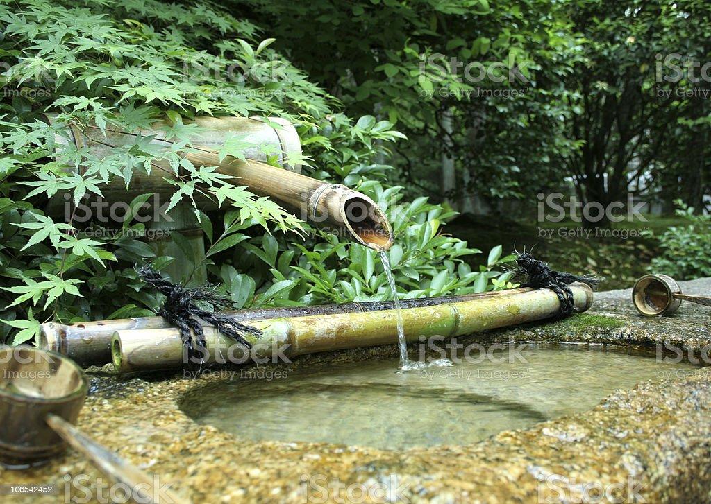 Japanese Bamboo Fountain royalty-free stock photo