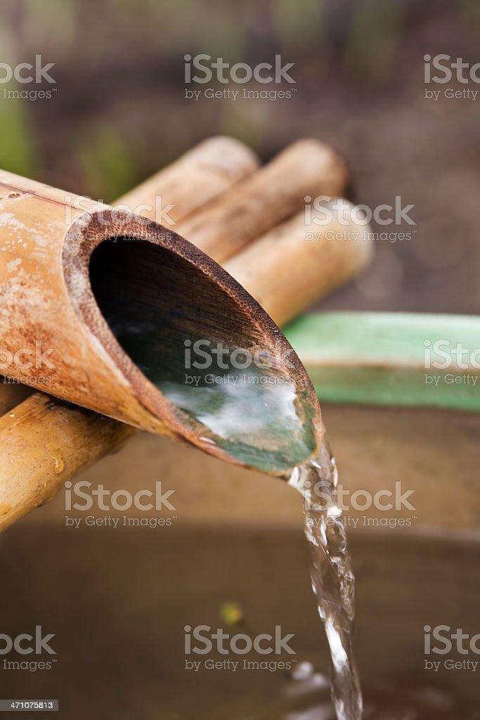 Japanese Bamboo Fountain stock photo