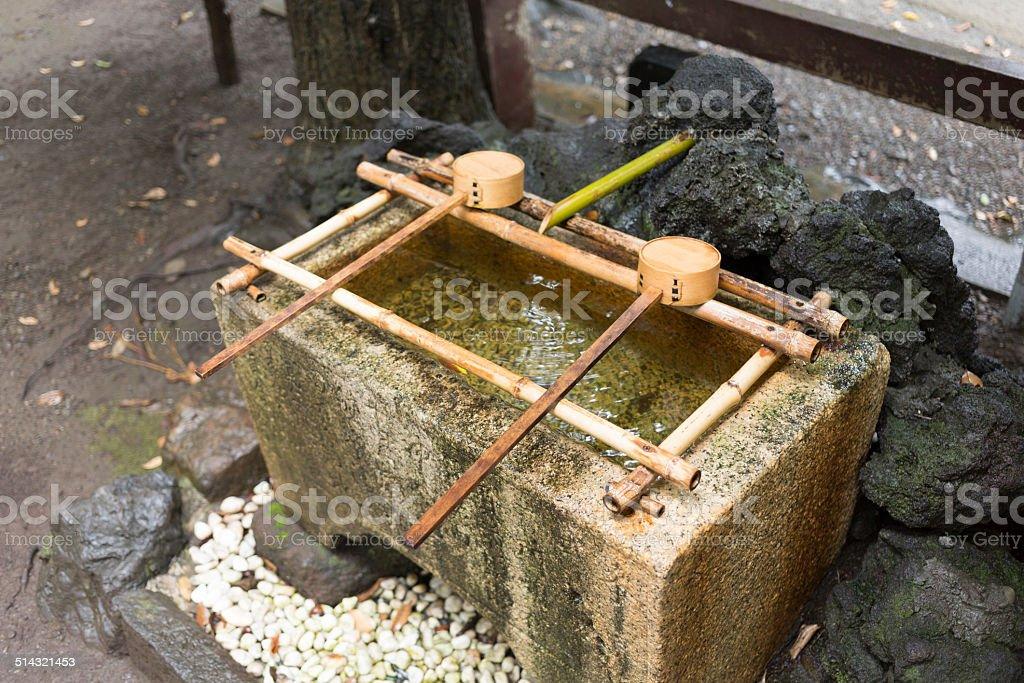 japanese bamboo Ladle stock photo