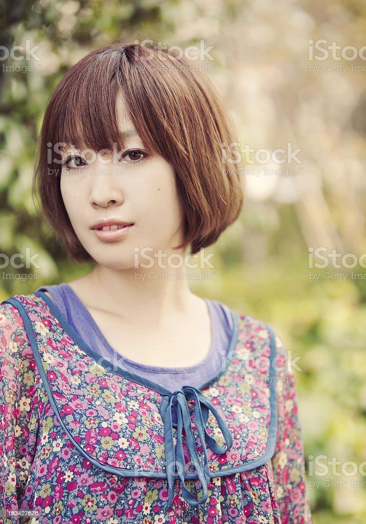 Japanese Beauty Outside stock photo