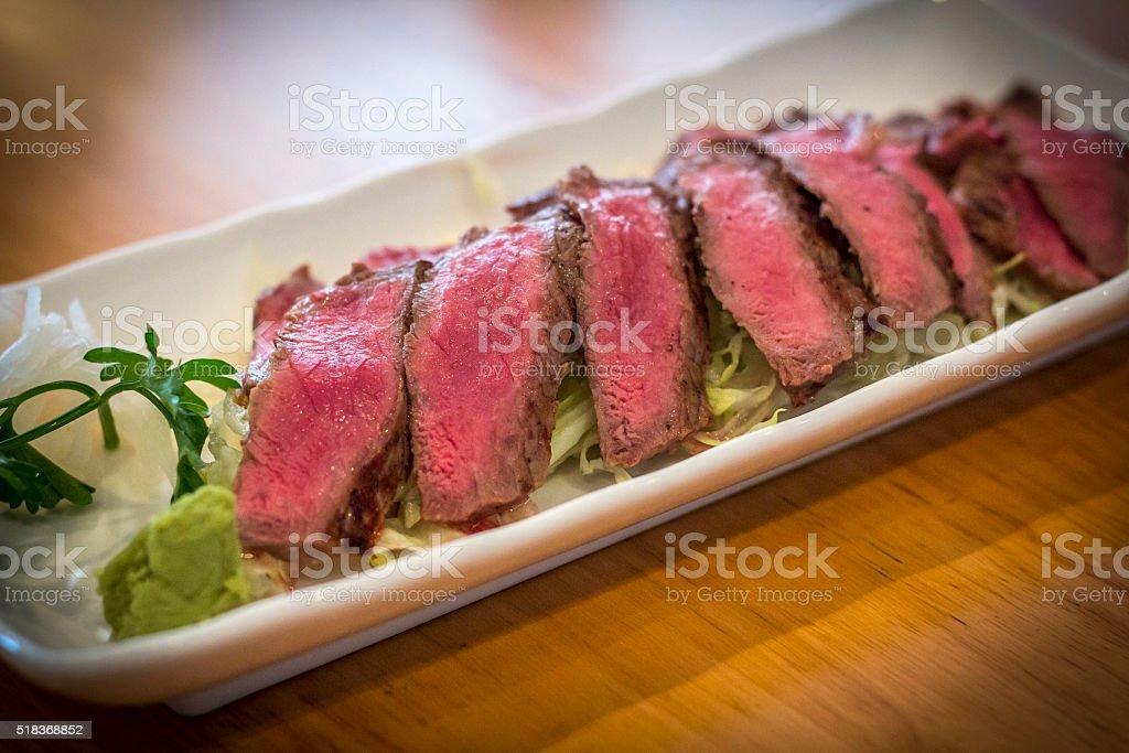 Japanese Beef Tataki stock photo