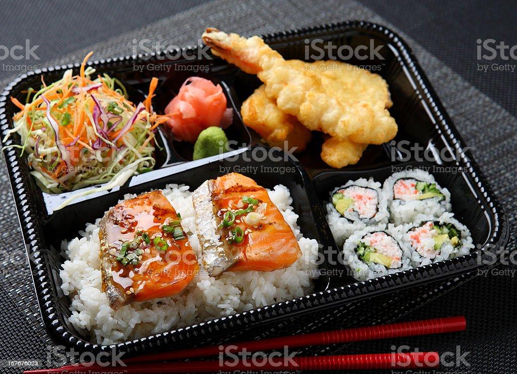 Japanese Bento - Salmon royalty-free stock photo