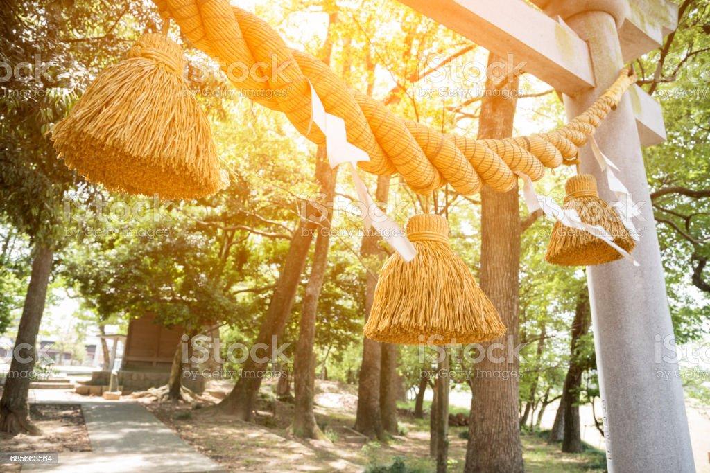 お正月に日本の大きなロープという「絞縄」 ロイヤリティフリーストックフォト