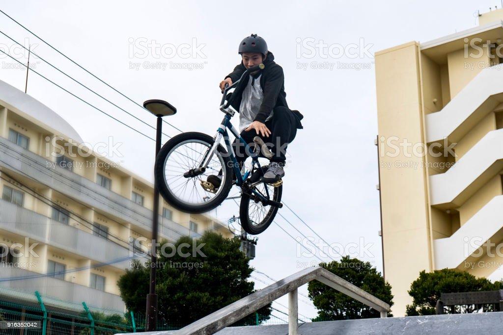 Japanese bmx riders stock photo
