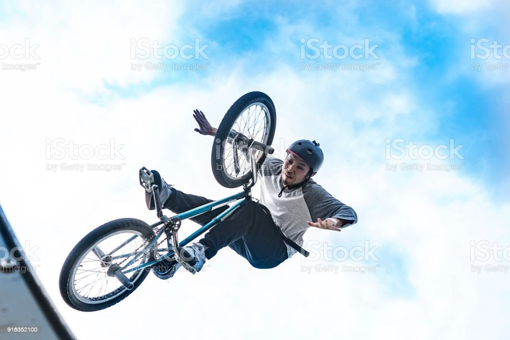 Japanese bmx riders stock photo