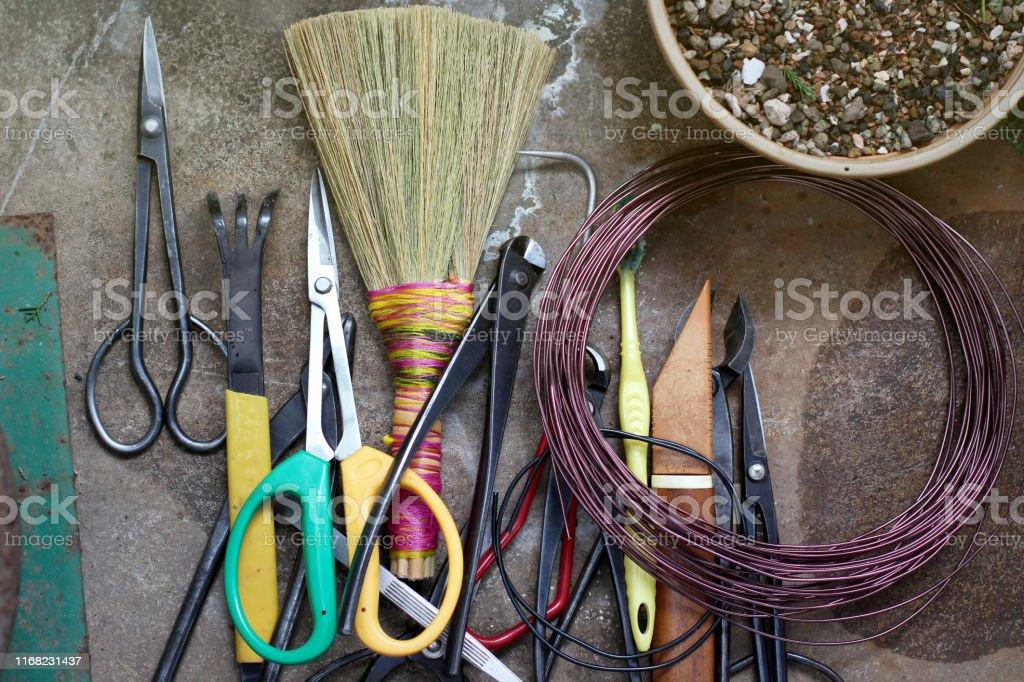 Japanese Bonsai Pruning Tools Kit Stock Photo Download Image Now Istock