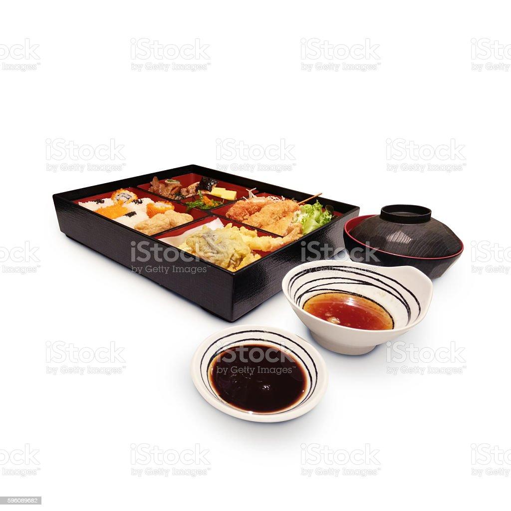Japanese Box Lunch Bento set. royalty-free stock photo