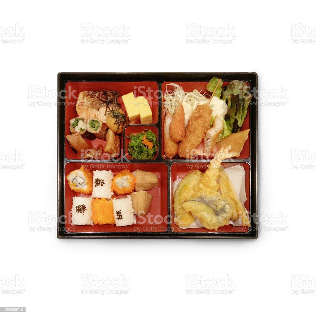 Japanese Box Lunch Bento set royalty-free stock photo
