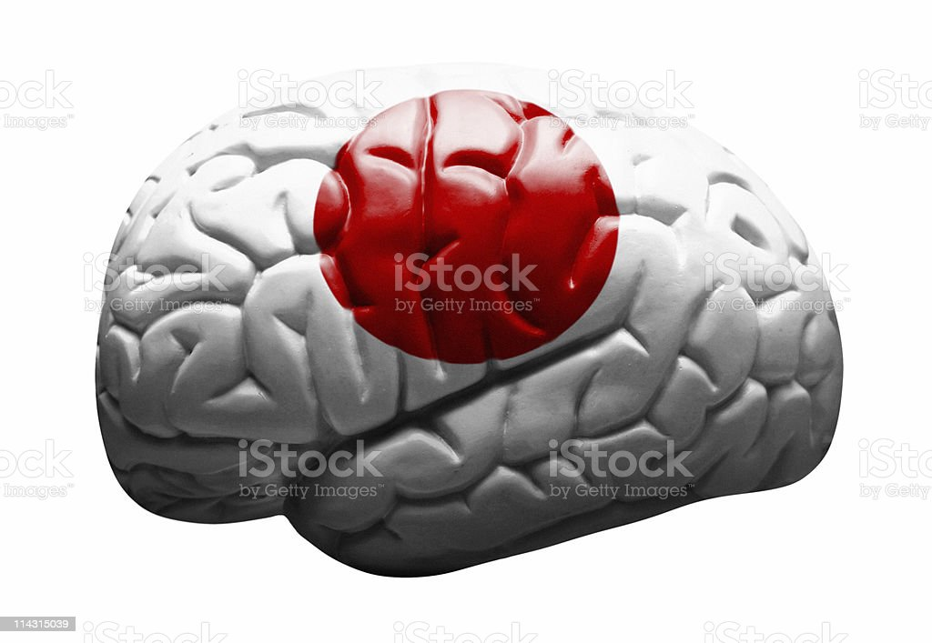 Japanese brain royalty-free stock photo