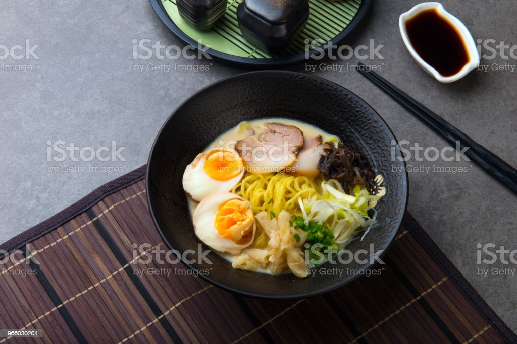 japanese braised pork belly ramen noodles - Royalty-free Asia Stock Photo