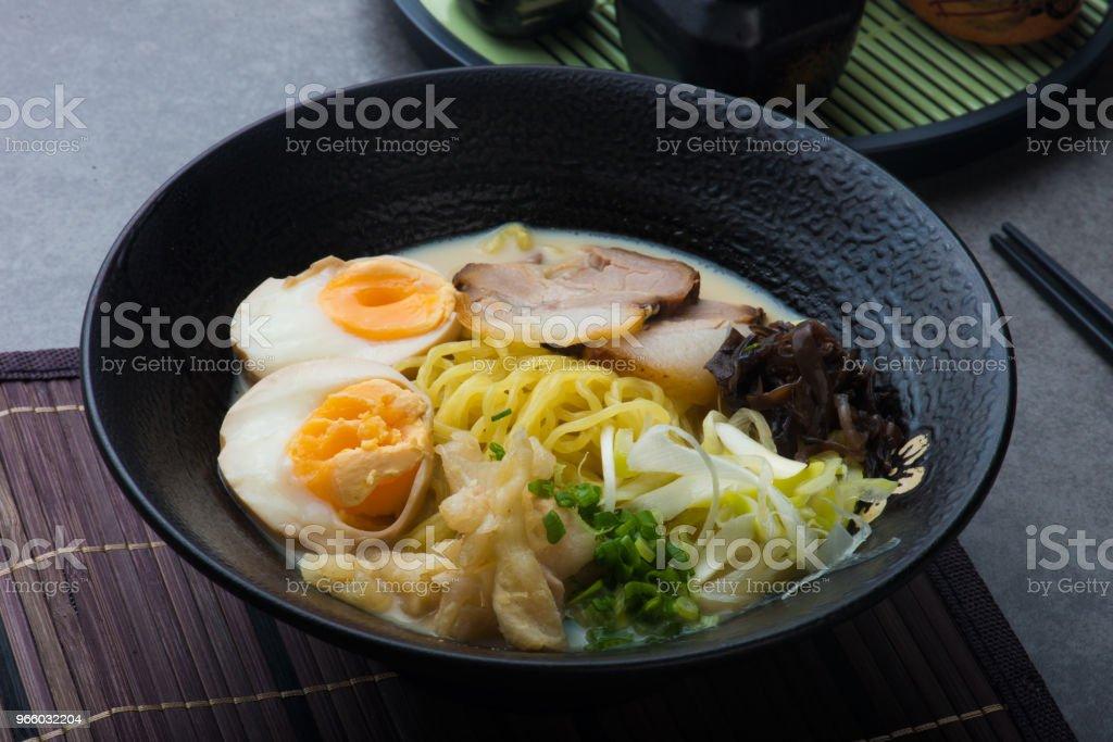japanese braised pork belly ramen noodles - Royalty-free Asia Stock Photo