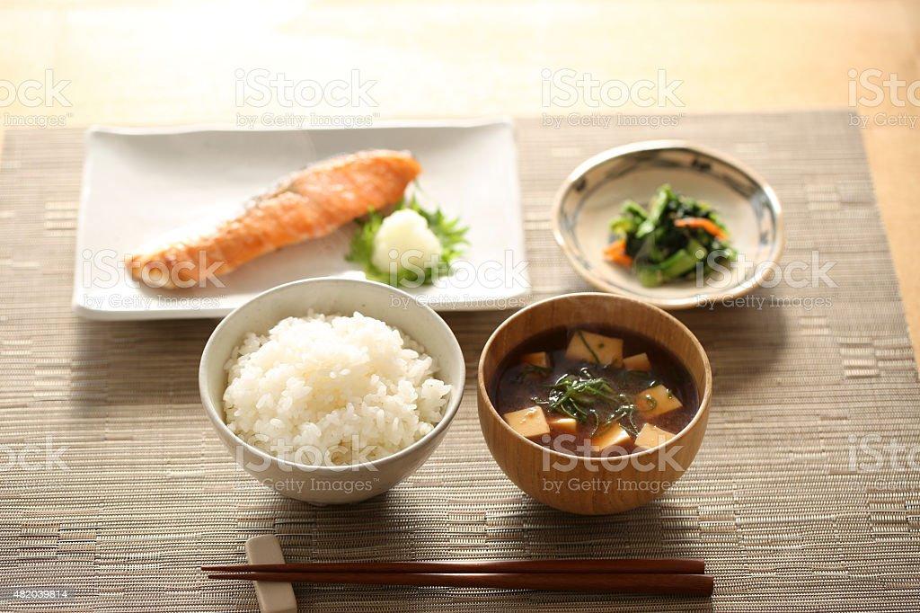 Café-da-manhã japonês foto de stock royalty-free