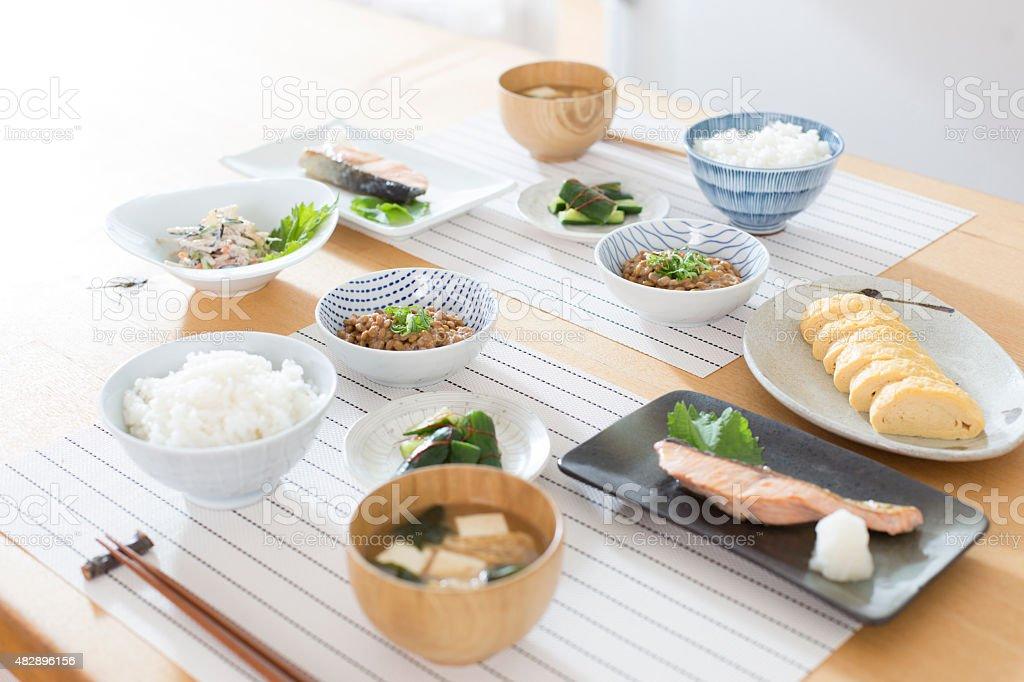 Café-da-manhã japonês - foto de acervo