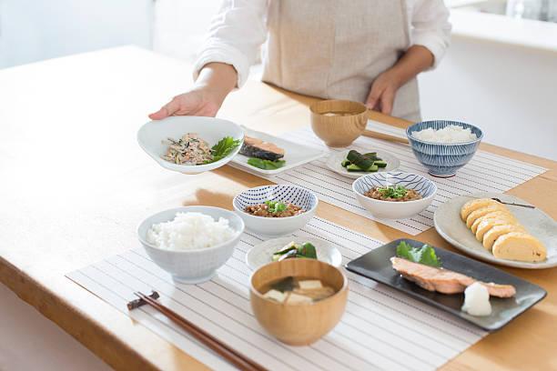 Japanese breakfast stock photo