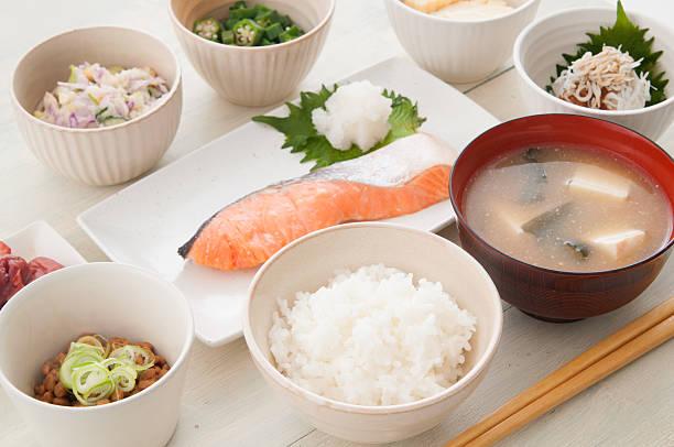 和食の朝食 ストックフォト