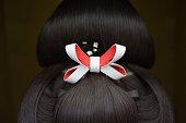 Japanese bridal wig used with wedding kimono. Sometimes geisha's used these.