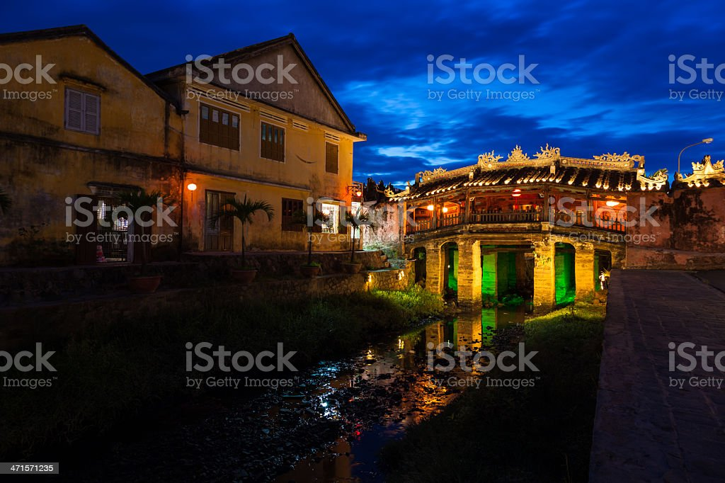 Japanese bridge in Hoi An, Vietnam royalty-free stock photo