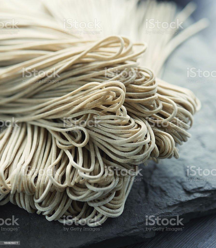 Japanese buckwheat noodle stock photo