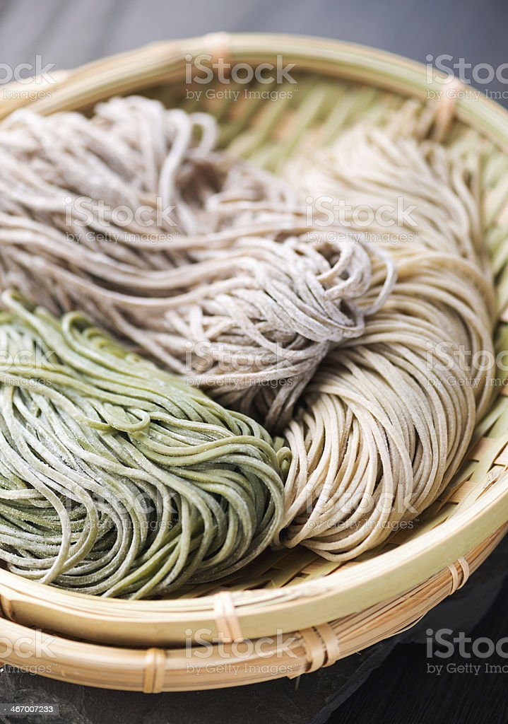 Japanese buckwheat noodle stock photo