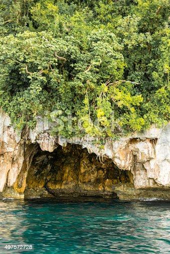World War II Japanese bunker, Rock Islands, Palau